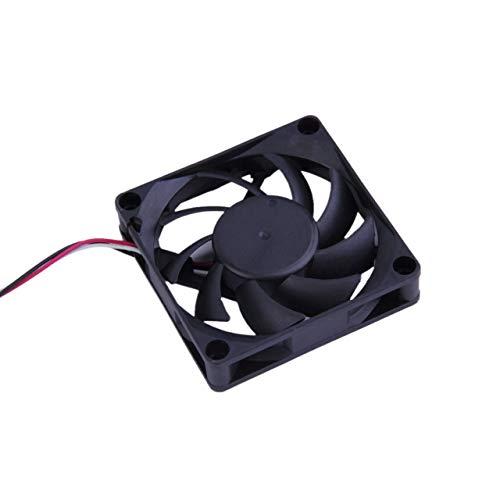 ABS Negro Ahorro de energía 16.0dB +/- 10% 3 Pines 7cm 12 V Rodamiento de Bolas Caja de Ahorro de energía Ventilador de enfriamiento para computadora (Negro) ESjasnyfall