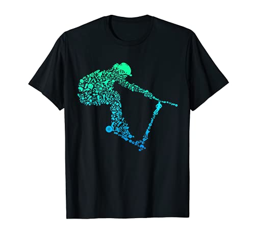 Scooter Stunt Tretroller Geschenk für Kinder & Jungen T-Shirt