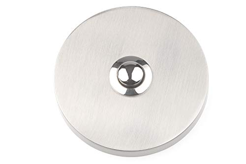 HUBER Klingel Klingelplatte 12010, 1-fach aufputz, rund, Echtmetall