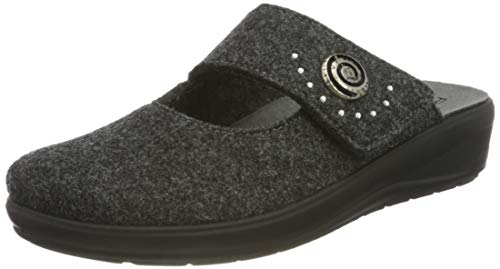 Rohde Womens Catania Flat Slipper, 82 Anthracite, 6 UK