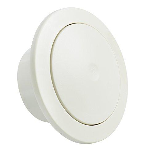 Hon&Guan ø100mm Redondo Ajustable Cubierta de Rejilla de Ventilación de Aire con Filtro de Malla y Silenciador Algodón, ABS (ø100mm)
