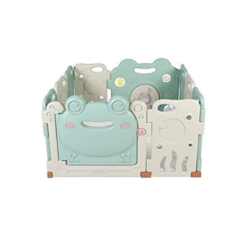 Xu Yuan Jia-Shop Laufgitter & -ställe Indoor Kinderspielzaun, Kinderspielplatz Sicherheitszaun, Krabbelschutz Baby Puzzle Safety Playground (Color : Green, Größe : S)