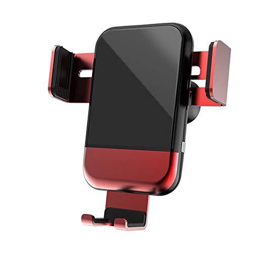 Soporte Para Teléfono Del Automóvil, Enlace De Gravedad Titular De Teléfono Móvil Bloqueo Automático 360 ° Rotación Universal Air Vent Mount Soporte De Teléfono Para Otros Teléfonos Inteligentes,Rojo