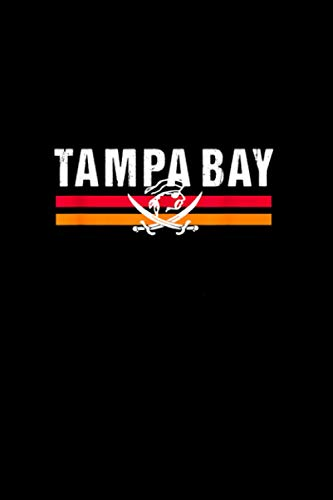 Red Tampa Bay Classic TB red Original Tampa Bay Pirate Pro Notebook Journal 114 Pages 6''x9''