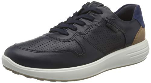 ECCO Herren Soft 7 Runner Sneaker, Night Sky/Whiskey/Medieval, 44 EU