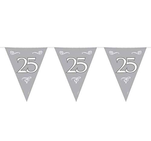 Folat 10Meter Silber 25. Jubiläum Wimpelkette