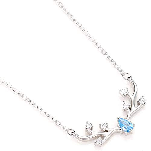 #N/V S925 Sterling Silver Half Moon Full Moon Necklace 3 Styles Colorful Enamel Stone Jewelry Pendant Birthday Gift,blue+silver,Chain length 40 + 5cm