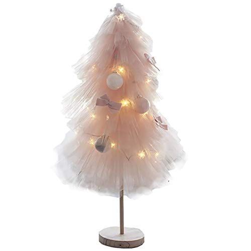 Tabletop Christmas Tree with Lights Xmas Decorations Mini Tree Artificial Dexule Xmas Tree Realistic For Xmas Gifts For Holiday Decoration-100cm(3.2ft) Pink.