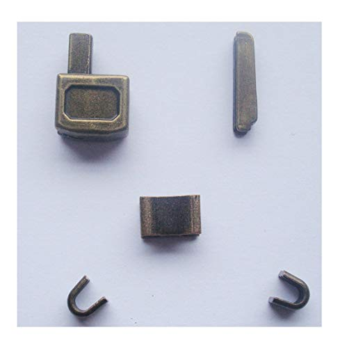 2 sets bronze #10 metal zipper head box zipper sliders retainer insertion pin easy for zipper repair,Zipper Repair Kit