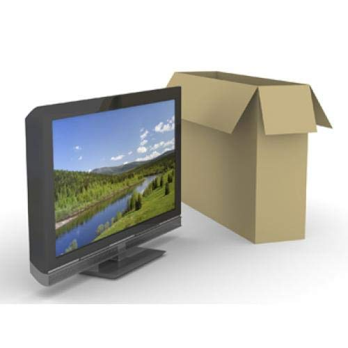 Double Walled Cardboard TV Box with FREE roll of Bubblewrap (24' - 50' Screens) (Up to 50')