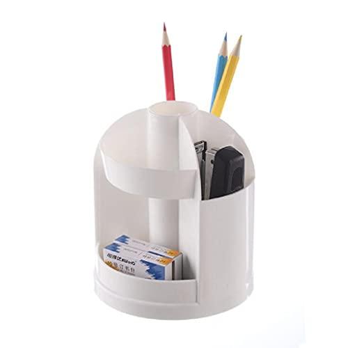 回転可能なペンホルダーデスクオーガナイザーデスクトップステーショナリーオーガナイザー回転鉛筆ペンホルダー歯ブラシ収納ホルダー (白い)