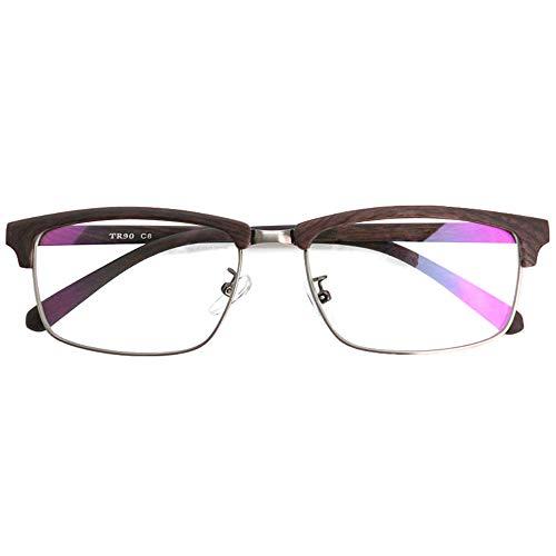 SHOWA 遠近両用メガネ TRウッドグレイン (メンズセット) 全額返金保証 境目のない 遠近両用 眼鏡 老眼鏡 おしゃれ メンズ 男性 リーディンググラス(瞳孔間距離:女性平均60mm〜62mm, 近くを見る度数:+1.0)