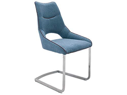 möbelando Schwingstuhl Esszimmerstuhl Schwinger Küchenstuhl Stuhl Aldrina I (2-er Set) Petrol