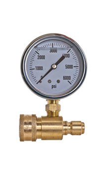 Brass Adaptor & Pressure Gauge Kit - Fits Any Pressure Washer That Uses Quick...