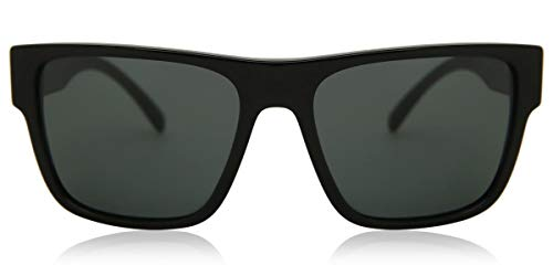 Versace 0VE4379 Gafas, Black (Gb1/87), 56-17 Unisex Adulto