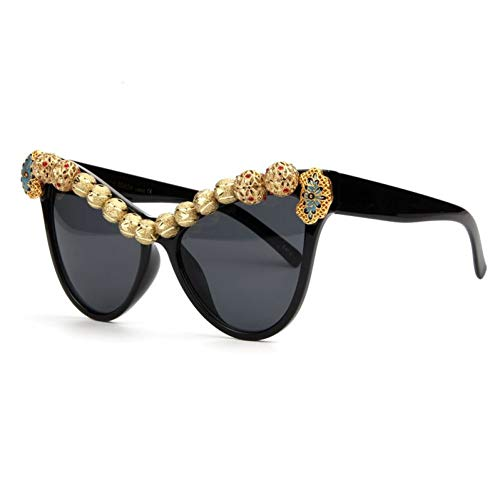 YLNJYJ Sonnenbrillen Cat Eye Sonnenbrille Frauen Arabische Handwerk Kupfer Biene Sonnenbrille Vintage Shades Weiblich Oculos De Sol