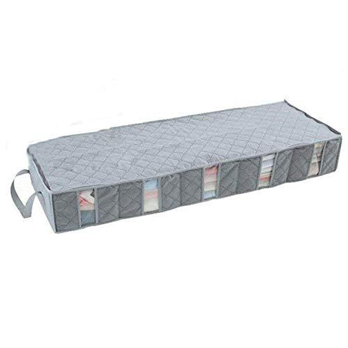 DHTOMC Bolsa de almacenamiento para ropa de 53 litros, para debajo de la cama, organizador de ropa de cama, ahorra espacio, perfecta para colchas, ropa