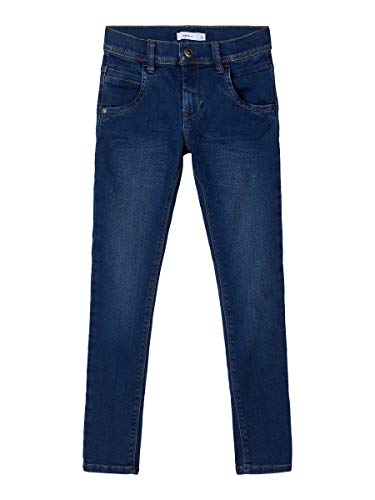 NAME IT Herren Slim Fit Jeans NITTAX 134Dark Blue Denim