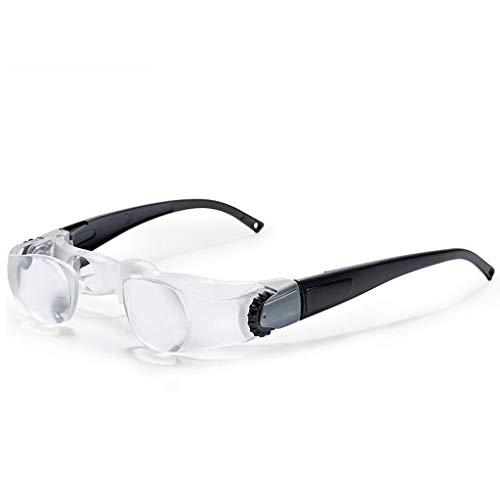 A&D Oude man met brillen-type vergrootglas, 3 keer mobiele telefoon lezen boek leesbrillen-type head-mounted hyperopie (bijziendheid) vergrootglas HD twin-schroef scherpstellen vergrootglas