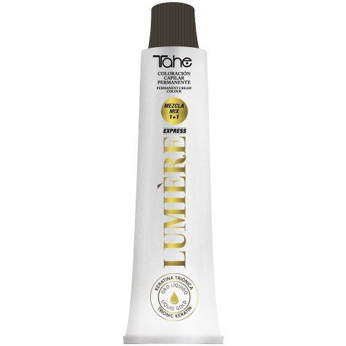 Tahe Lumière Express Tinte de Cabello Profesional/Coloración Capilar Permanente/Tinte de Capilar/Tinte Pelo con Bajo Contenido en Amoniaco, Nº 5 Castaño Claro, 100 ml