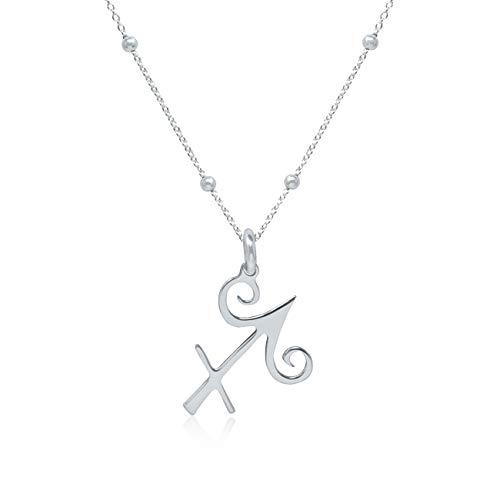 WANDA PLATA- Collar Símbolos del Zodíaco Sagitario para Mujer Plata de Ley 925, Colgante Horóscopo, Astrología …