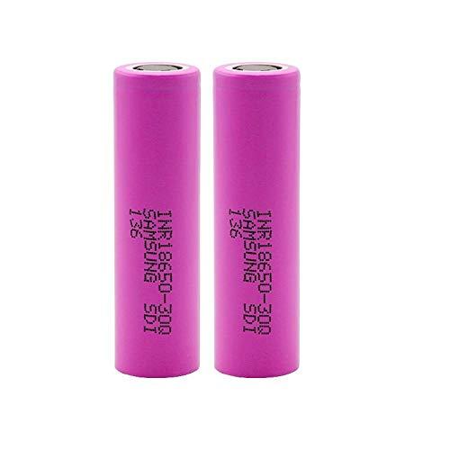 LUOYCXI 2 STÜCKE 18650 Akku 3000 Mah Inr 18650-30Q Li Ion Akku für elektronische Cigare Taschenlampe