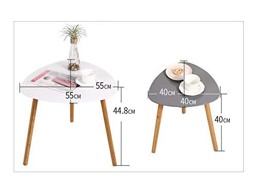 FENGRONG Mini Mesa De Café, Nordic Sencilla Mesa Auxiliar Triangular, Mesa De Centro De Madera, Sala De Estar Mesa De Café 2 Piezas (Color : A)