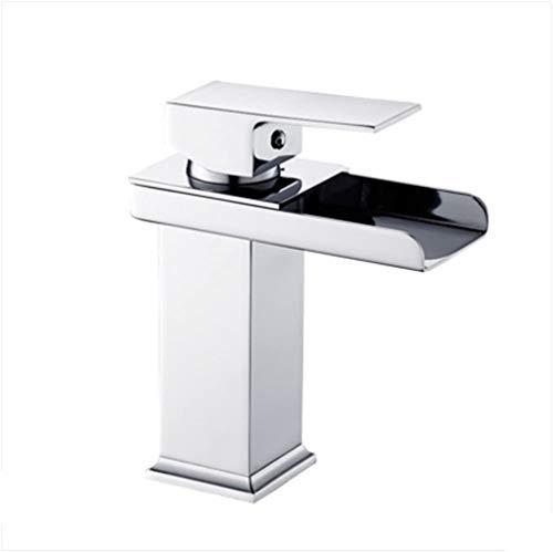 Watervalkraan van koper, eenvoudig gat, warm en koud gat, voor badkamer, wastafel, badkamer, gat, afmeting 32 mm tot 40 mm, kan worden geïnstalleerd (afmetingen: 138 mm x 310 mm) 138mm*160mm