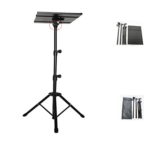 GJQGYY Laptop Tripod, Portable Projector Stand Tripod, Laptop Stand Adjustable Height 17.7 to 42.7 inch, for On-stage or in-Studio Use