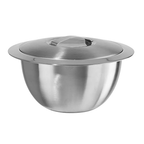 Oggi Double Wall Insulated Hot/Cold Serving Bowl - 2 qt, 2 Quart, Silver