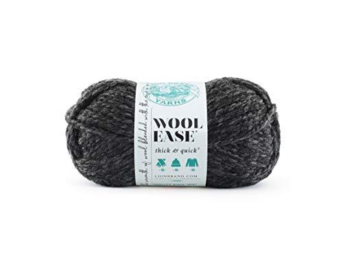 Lion Brand Yarn 640-149 Wollgarn, anthrazit, One Size