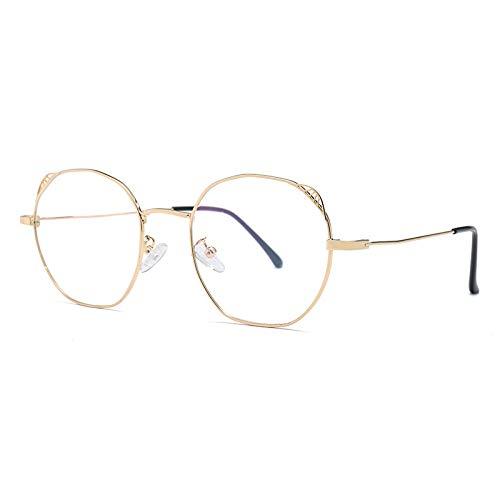 Hanxniwm Sieraden Trend Wilde Anti-Blu-ray vlakke spiegel vrouwelijke decoratieve sieraden Nieuwe onregelmatige brilmontuur Unisex bril