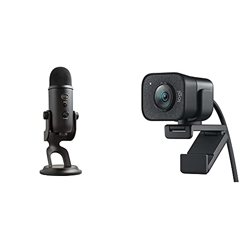 Blue Microphones Yeti Professionelles USB-Mikrofon + Logitech StreamCam – Live-Streaming-Webcam