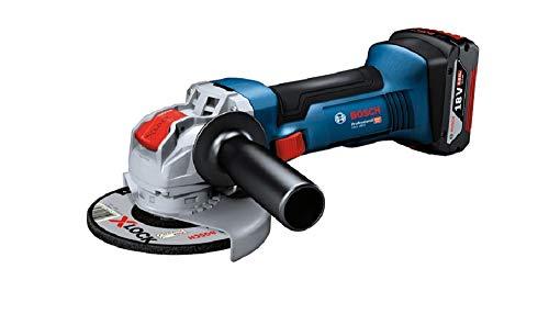 Bosch Professional 06019J7001 System Winkelschleifer GWX 18V-8 (ohne Akku, für X-Lock-Zubehör, Scheiben-Ø: 125 mm, im Karton), 800 W, 18 V, blau