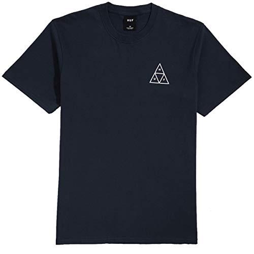 HUF Essentials TT - Camiseta (talla L), color azul marino