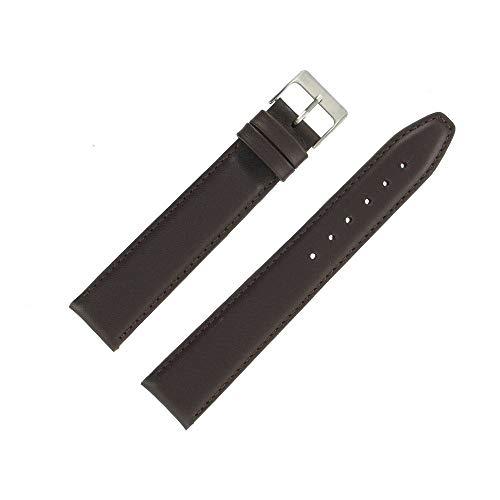 OnWatch - Correa de reloj de piel auténtica (20 mm), color marrón