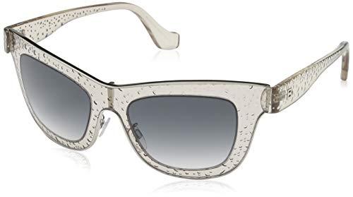 Balenciaga BA0055 45F -52-19 -140 Balenciaga zonnebril BA0055 45F -52-19 -140 rechthoekige zonnebril 52, wit