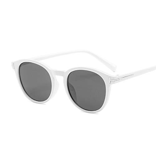 NJJX Gafas De Sol Vintage Con Forma De Ojo De Gato Para Mujer, Gafas De Sol Redondas Con Gradiente, Para Hombre Y Mujer, Retro, Marrón, Negro, Espejo, Blanco, Gris