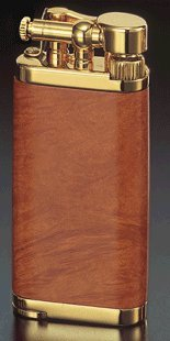 Corona Old Boy Gold Plate With Smooth Briar Wood Pipe Lighter