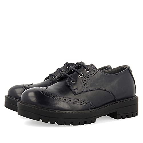 Zapato colegial Azul Marino para niña KASTAV