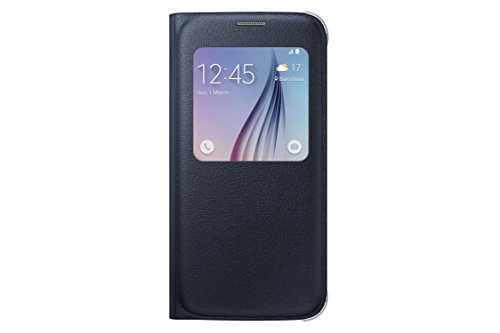Samsung S-View Flip Cover for Samsung Galaxy S6 - Black Sapphire