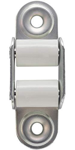 Schellenberg 51302 Guía para Cinta con Juntas persiana, Mini Standard, 40 mm, Blanco