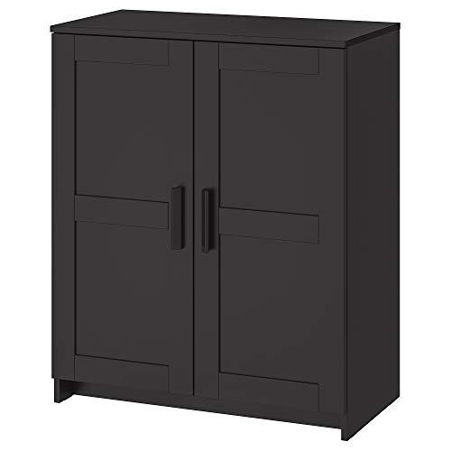 BRIMNES armario con puertas 78x41x95 cm negro