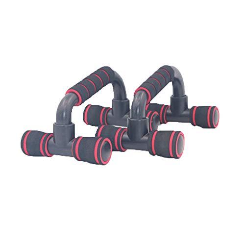 NA Push-ups Fitnessgeräte Indoor Brustmuskeltraining Schaum Push-ups Unterstützung Push-up Schubstangen für männliche Griffstabform Griff 2 STK,Reddish Black