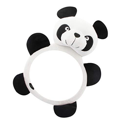 SM SunniMix Baby Auto Spiegel Rücksitzspiegel Sicherheitsspiegel Babyschalenspiegel 27 x 17,5 x 6 cm - Panda