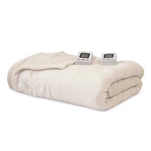 SensorPedic Heated Electric Blanket with SensorSafe, Queen, Ivory