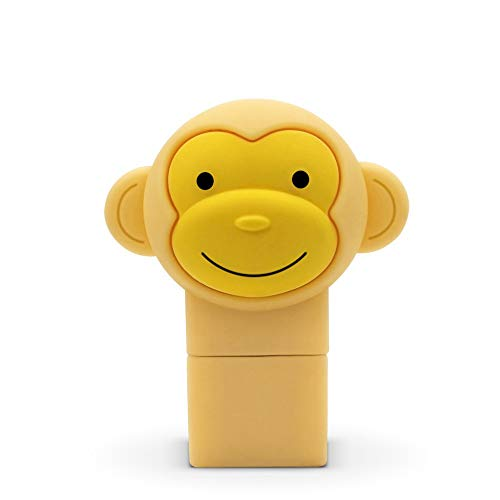 PXNH Chiavetta USB Chiavetta USB Forma animale Flash-disk Carino Scimmia gialla Chiavetta USB 16GB gialla