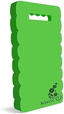 InSassy (TM) Garden Kneeler Wave Pad - High Density Foam for Best Knee Protection