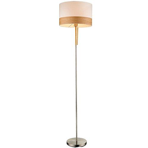 Staande lamp textiel eetkamer staande lamp houten plafond schijnwerper trekschakelaar Globo 15221S