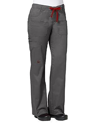 Maevn Women's Utility Cargo Pants(Charcoal, Medium)